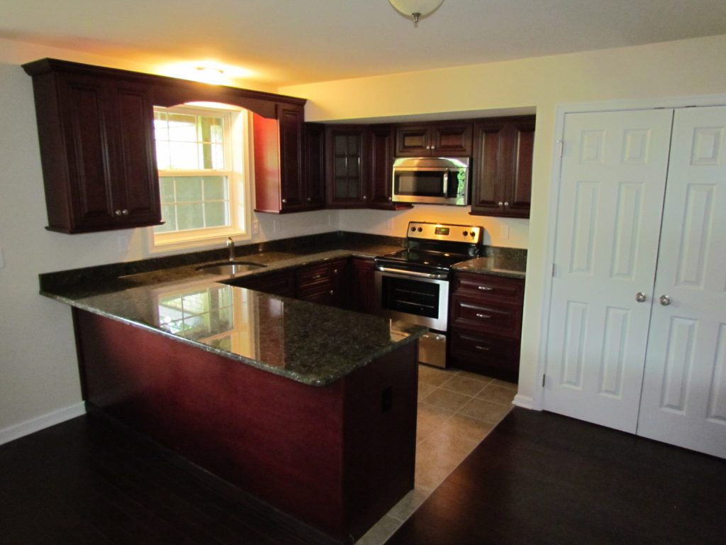 Historic House Large Addition basement kitchen