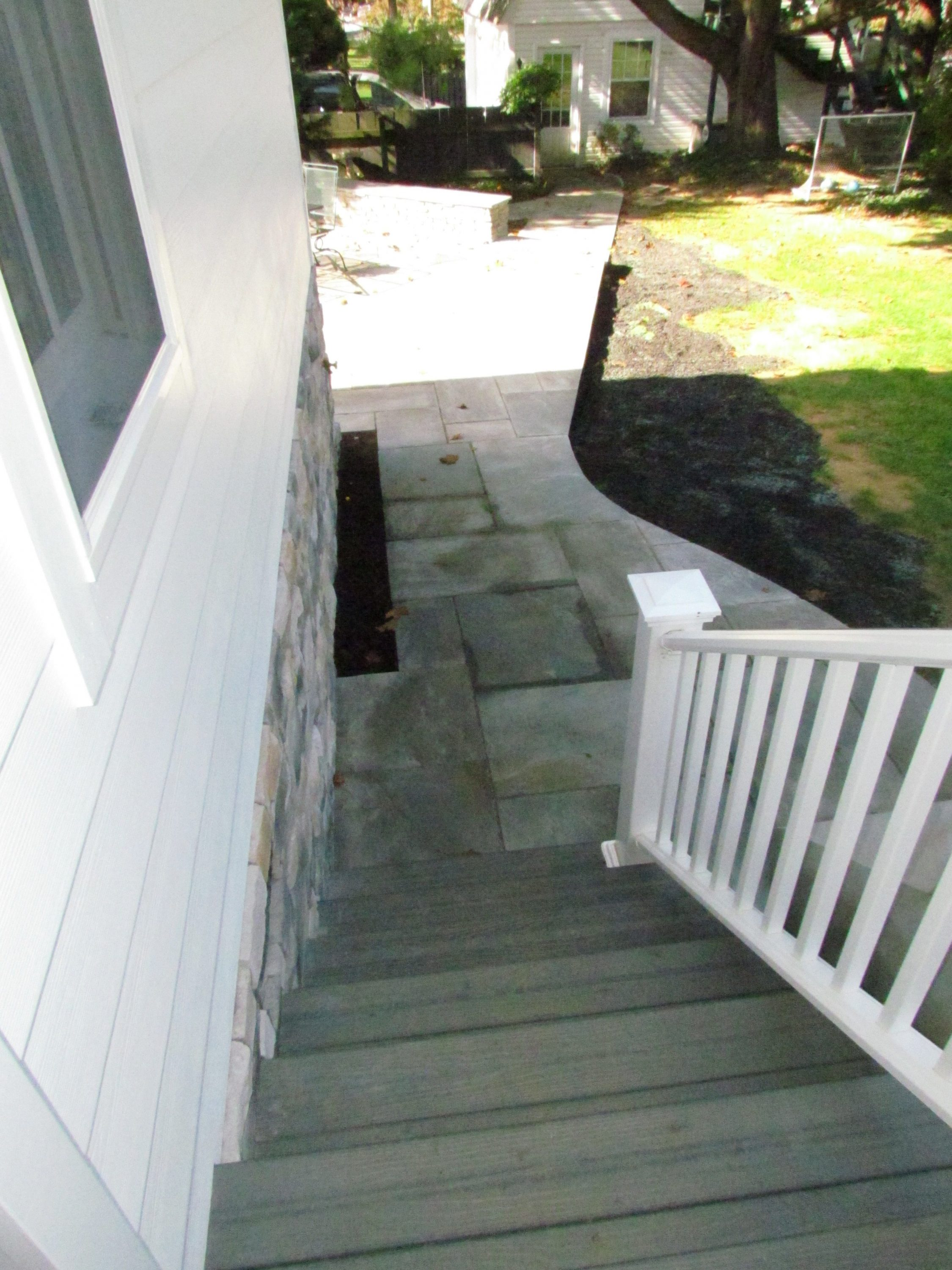 Historic Addition porch stairs