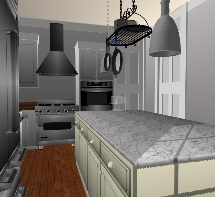 JC Smith Design kitchen island 3d model
