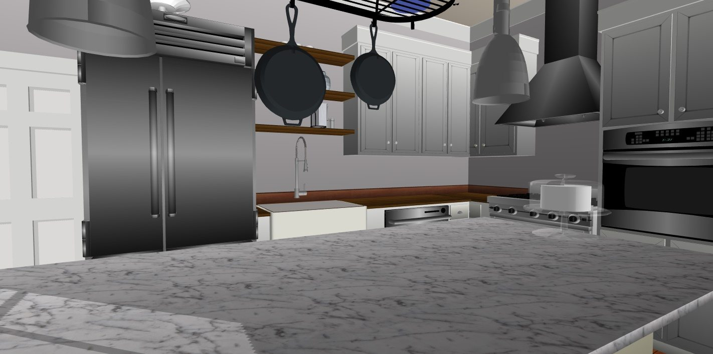 JC Smith Design kitchen model