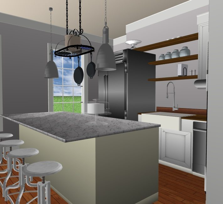 JC Smith Design kitchen island model