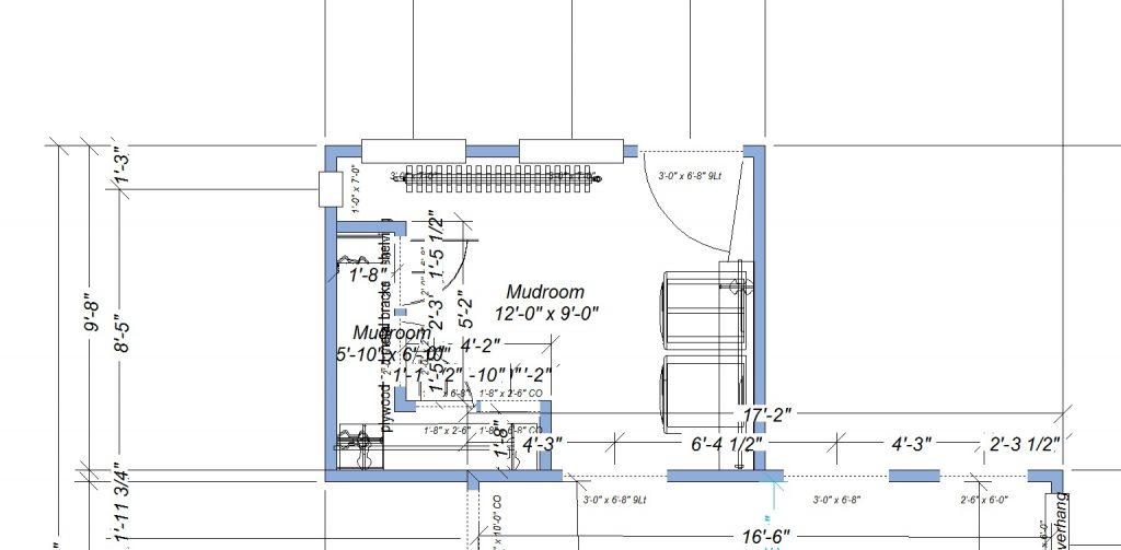 JC Smith Design mudroom floor plan