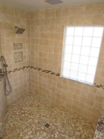 A Master's Bathroom shower interior