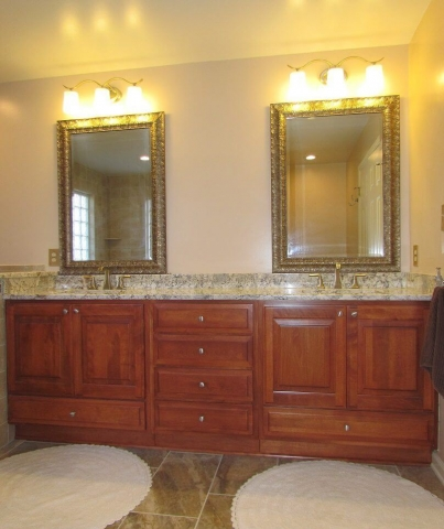 A Master's Bathroom double vanity