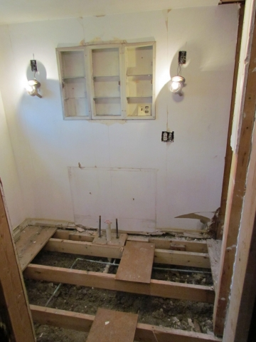 Historic Renovation Before And After bath before