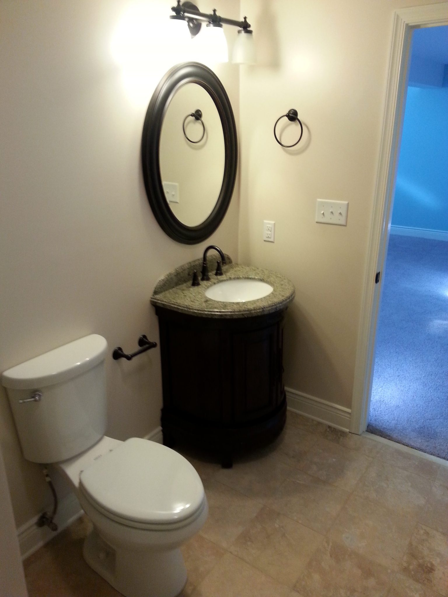 Finished Basement, Bedrooms With Egress Windows, And Upgrades bathroom vanity