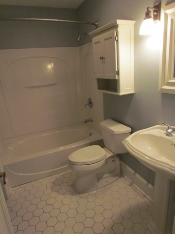 Complete Professionally Designed Renovation all white bathroom