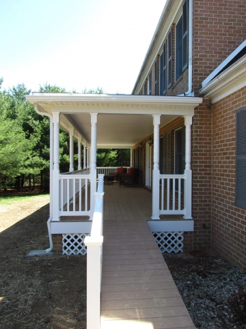 Front Porch composite and vinyl, side After