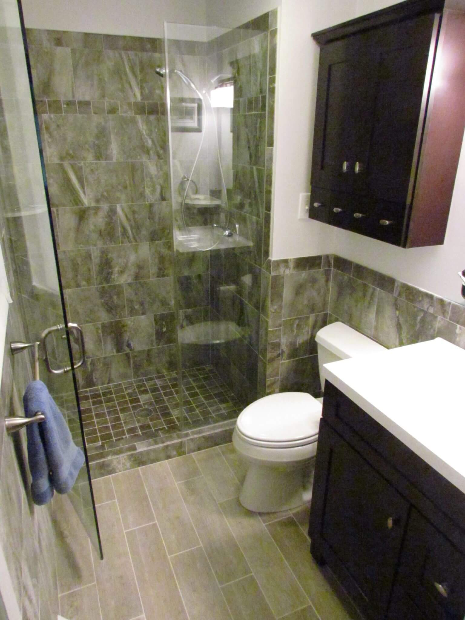 Bathroom Renovation shower door open