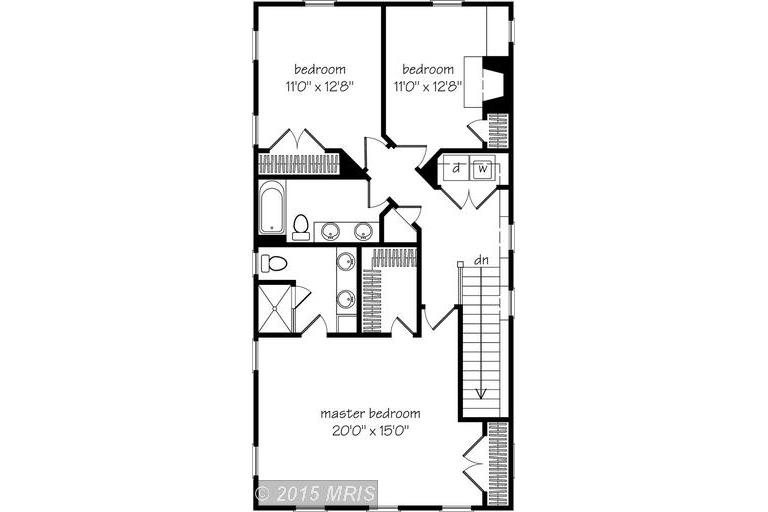 Charlestown Sheridan upper level floor plan