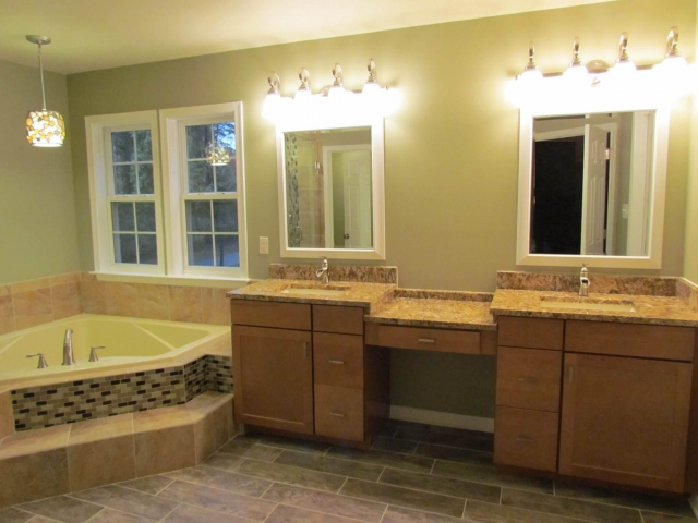 Master Bathroom Renovation bathtub and vanity