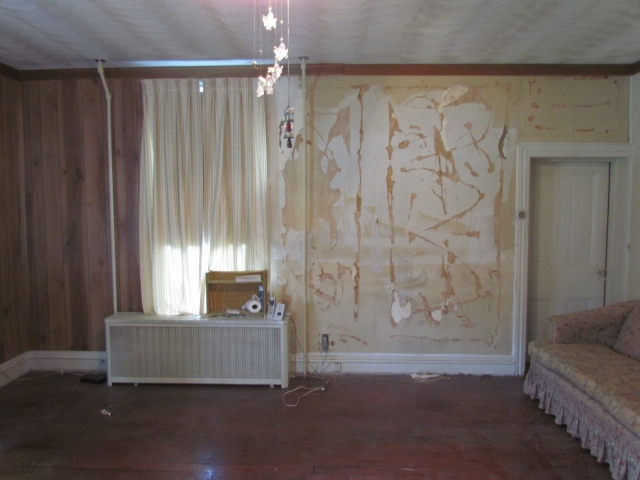 Historic Renovation Before And After living room before