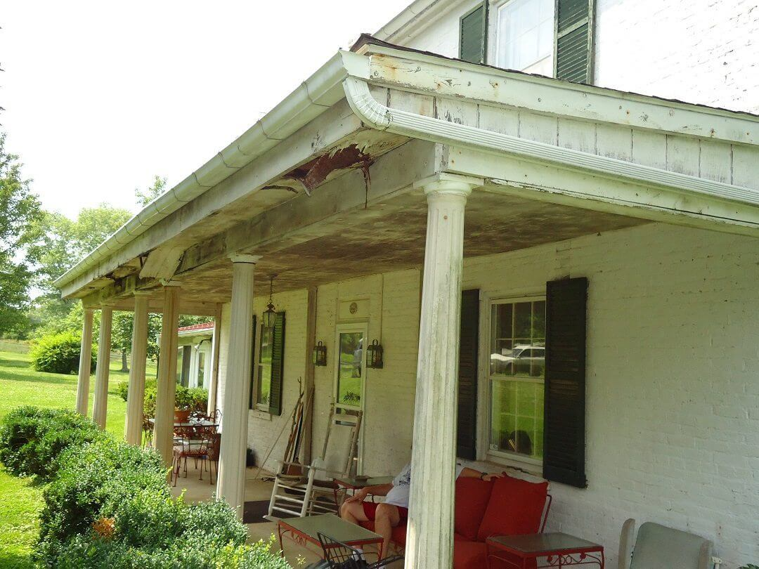 Historic Porch Restoration Before roof