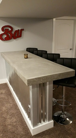 Masculine Transitional Finished Basement bar