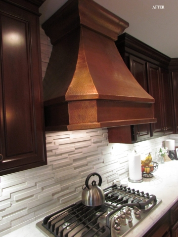 Main Level Modern Updates kitchen range and hood
