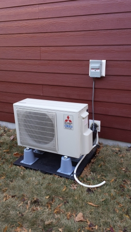 Addition In close Property Boundaries heating unit