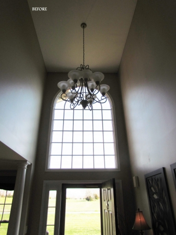 Main Level Modern Updates foyer light before