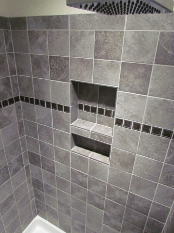 Large Slate Tile Accent Rain Shower