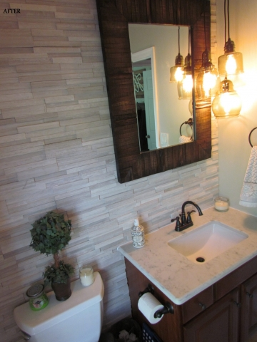 Main Level Modern Updates powder room vanity after