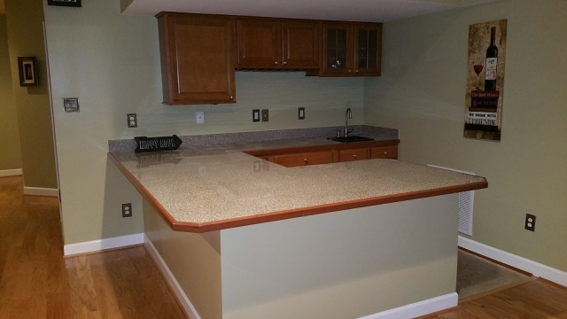 Disaster Restoration - Basement kitchen