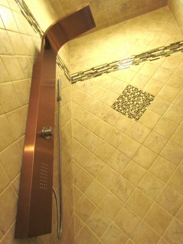 Master Bathroom En Suite shower head lower view