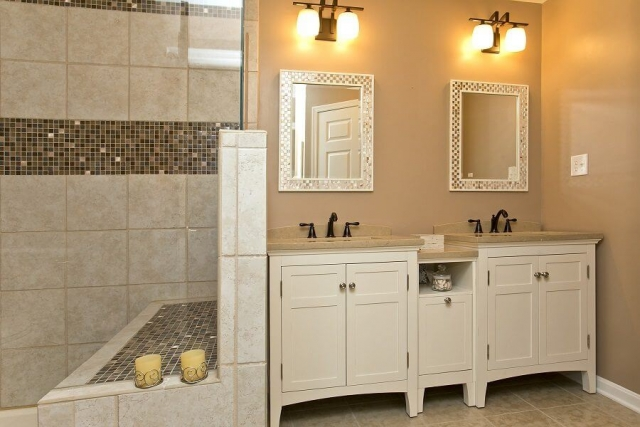 Award Winning Renovation double vanity