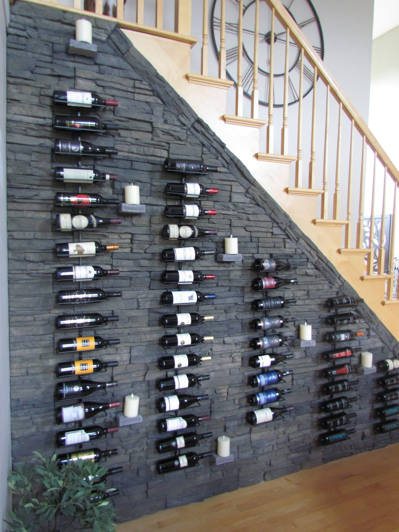 Main Level Modern Updates wine wall after