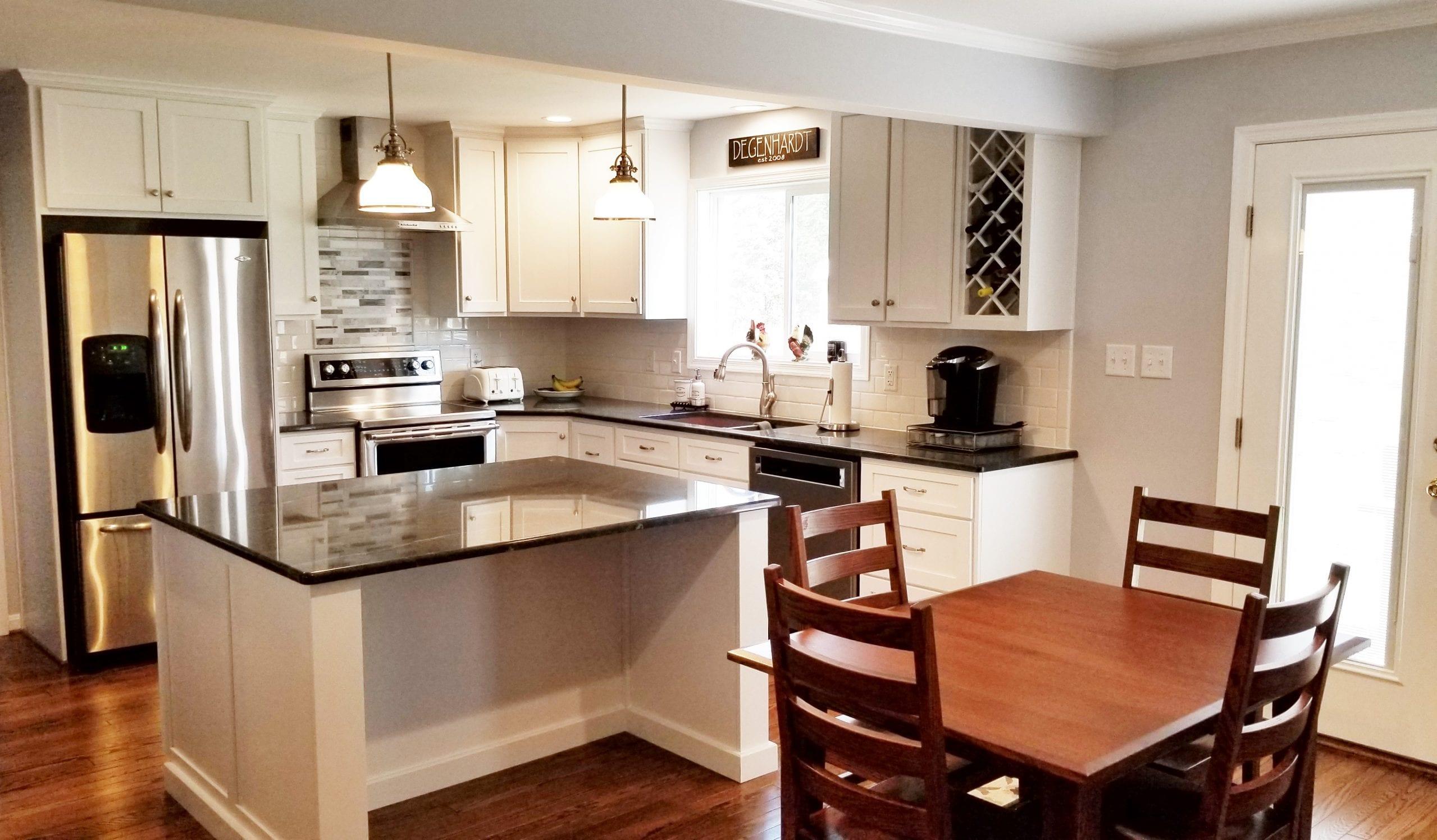 Client renovates their full bathroom and kitchen, polish ...
