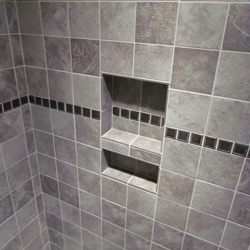 Large Slate Tile Accent Rain Shower main image